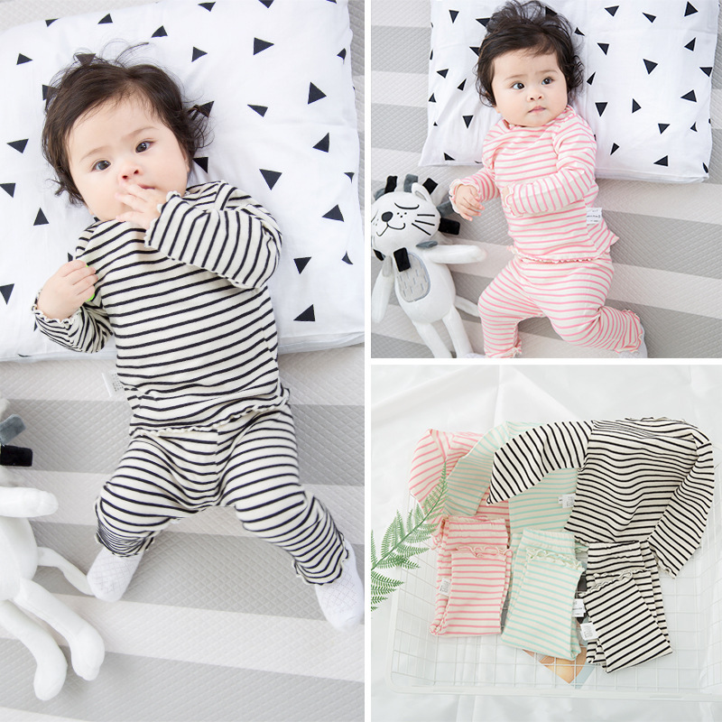 Baby Boy Set Newborn Boy Clothes Classic Striped Home Suit Baby Outfit Boy Clothing Sets Infant Clothes Girl Sleepwear Pajamas