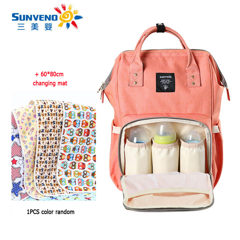 sunveno sales promotion free shipping mummy maternity diaper bag mom backpack brand large. Black Bedroom Furniture Sets. Home Design Ideas