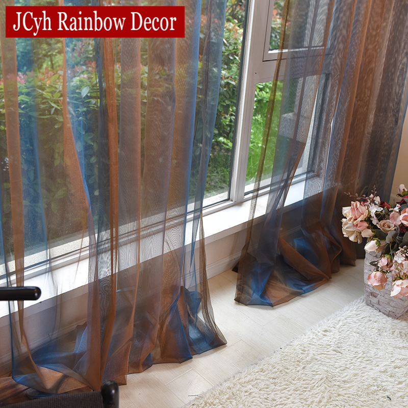 Luxury Sheer Tulle Curtains For Living Room Modern Window Sheer Curtain For Bedroom Voile Kitchen Door Curtains Fabric Drapes