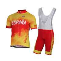 Ropa ciclismo hombre Espana İspanya ekibi 2018 erkek yaz kısa kollu Bisiklet forması kiti bisiklet bisiklet giyim önlüğü kısa set