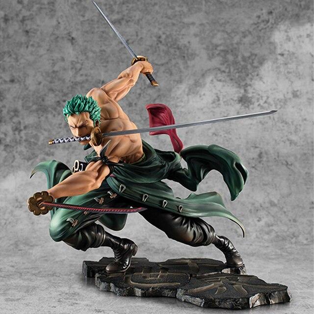 Anime One Piece SA-MAXIMUM 18 centímetros Roronoa Zoro Ver. Ação PVC Figura Coleção Modelo Brinquedos