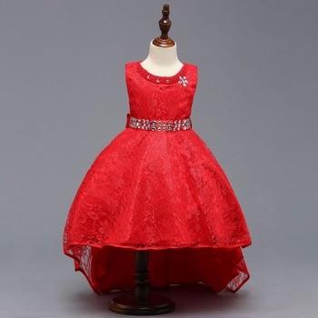 Ball Gown Cap Sleeves Beige Knee Length Flower Girl Dresses Kids Dress Children Girls Dresses with Bow