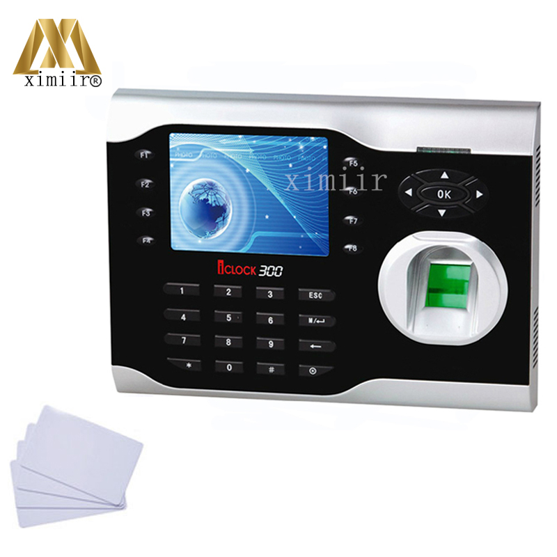 ZK ICLOCK300 TCP/IP Biometric Fingerprint Time Attendance With 13.56MHZ IC MF Card Reader Fingerprint Time Recorder Time Clock