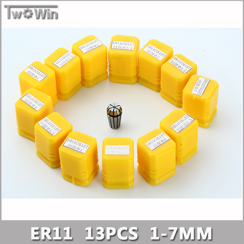 ER11 Collet Set 13pcs er11 Collet Chuck From 1mm to 7mm Beating 0.1MM Precision For CNC Milling Lathe Tool and Spindle Motor. atamjit singh pal paramjit kaur khinda and amarjit singh gill local drug delivery from concept to clinical applications