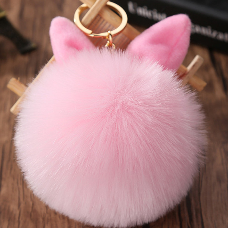 Fancy&Fantasy Key Chain Fluffy Keychain Bag Car Key Ring