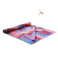 KAWO Yoga Mat Printed Non Slip Fitness Massage Pilates Sports Yoga Mat Cover Towel With Net
