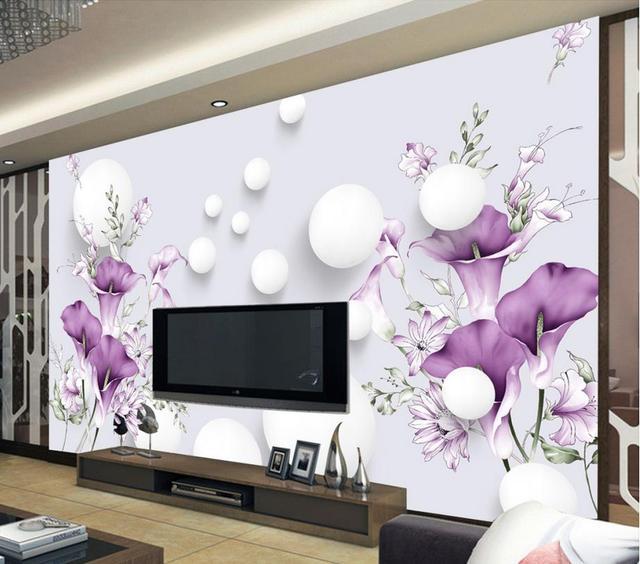 Dekoration 3d Badezimmer Tapete Modernen Minimalistischen Hufeisen Blumen  Foto Wandbilder Wallpaper
