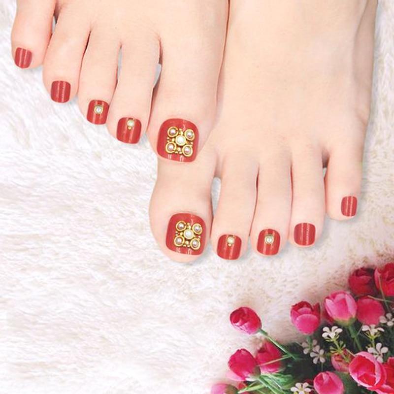 Health Beauty Nail Toe Art: Beauty Nails Art 3D Brilliant Rhinestones False Toe Nail
