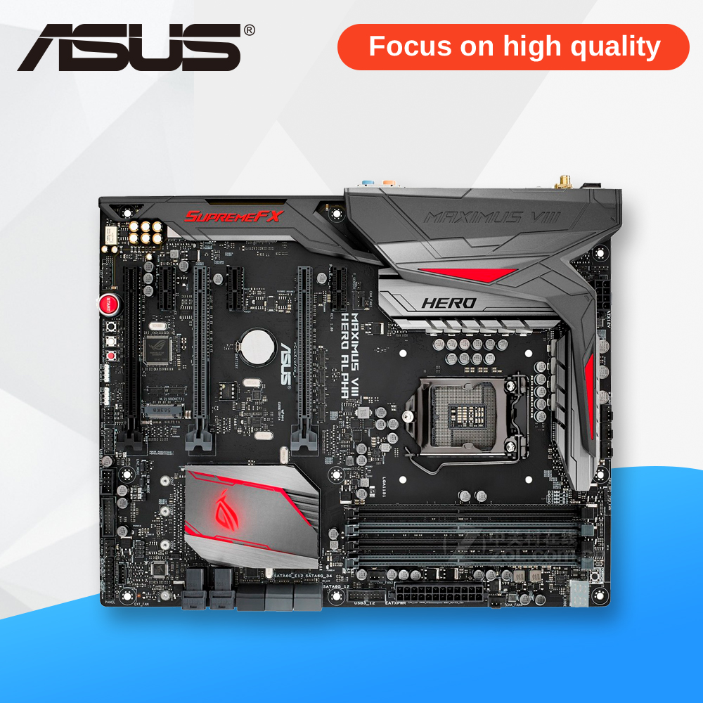 Asus ROG MAXIMUS VIII HERO/ALPHA Desktop Motherboard M8H/A Z170 Socket LGA 1151 i7 i5 i3 DDR4 64G ATX for msi z170a krait gaming 3x original new desktop motherboard for intel z170 socket lga 1151 for i3 i5 i7 ddr4 64g sata3 atx