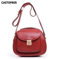 Designer Fashion Women Bags Cowhide Genuine Leather Vintage Retro Handbags Messenger Crossbody Lock Famous Brand Bags Quality