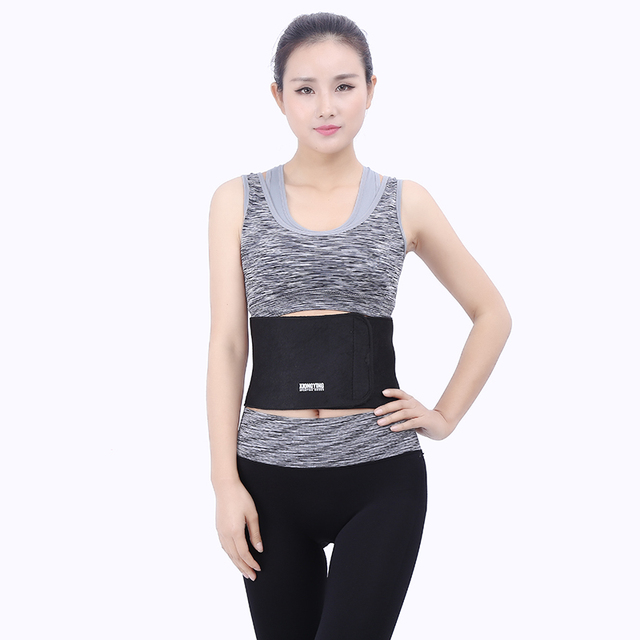 TJ-Tianjun New Waist Trimmer Belt Sweat Wrap Tummy Stomach Weight Loss Fat Slimming Exercise Belly Body Beauty Waist Support 1
