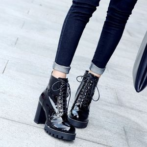 Image 4 - ALLBITEFO แฟชั่นของแท้หนังหนารองเท้าส้นสูงรองเท้าผู้หญิงส้นสูงรองเท้าหนังคุณภาพสูงรองเท้าสาวรองเท้า