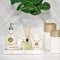 Home accessories Married housewarming gifts European luxury bathroom Ocean shell wash bathroom kit set LO726305