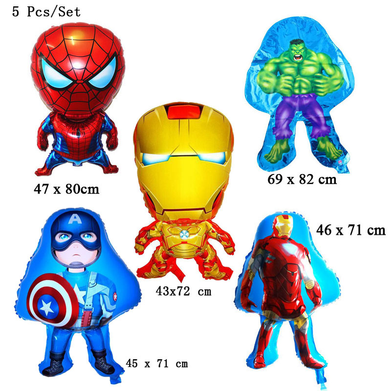 unidslote hoja hincha super heroes avengers cartoon nuevo feliz cumpleaos fuentes del