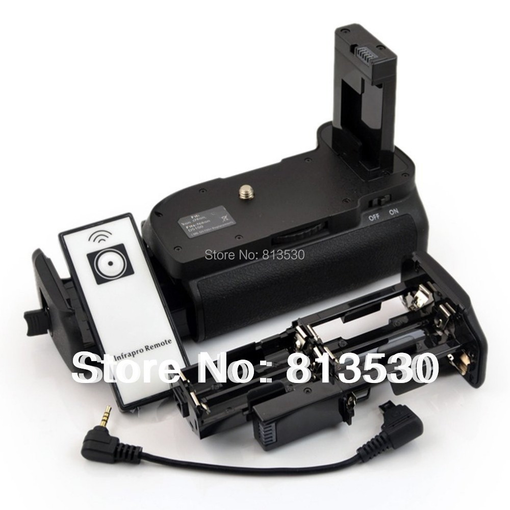 Батарейный блок+ ИК-пульт дистанционного управления+ 6 батареек АА Solt+ battery Аккумулятор для Nikon D3100 D3200 D5300 MB-D31 MB-D32