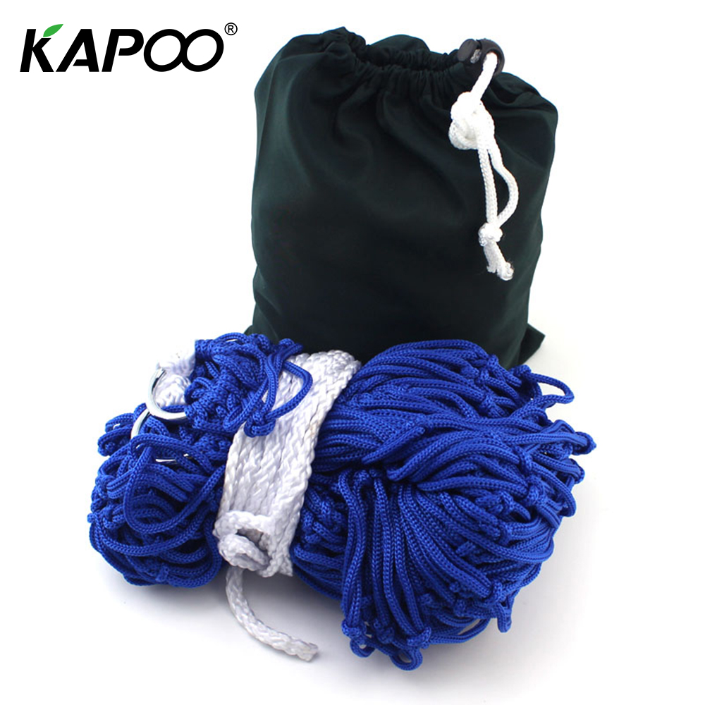 KAPOO 9 Strands Nylon Hammock Hanging Furniture Chair Sleeping Bed Portable Garden Outdoor Camping Travel Furniture hamak hamac outdoor double hammock portable parachute cloth 2 person hamaca hamak rede garden hanging chair sleeping travel swing hamac