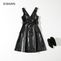 2018 New Spring dress women black office lady long sexy dress high waist clothes casual fashion sleeveless Korean Style