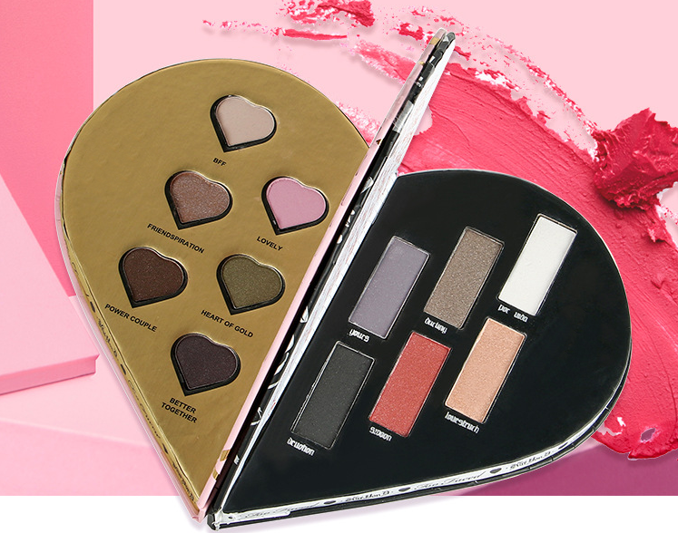 Hot Makeup Heart Shape 12 colors Eyeshadow Palette Shimmer Glitter Eye Shadow Long-Lasting Eyeshadow
