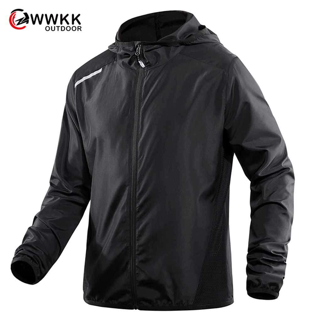 Outdoor Camping Men's Hiking Windbreaker Quick-Drying Breathable Sweat-Absorbent Anti-UV Ultra-Thin Lightweight Sunscreen Jacket