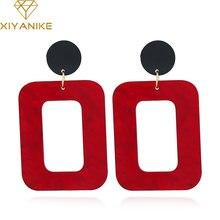 Xiyanike новые модные женские трендовые большие винтажные геометрические
