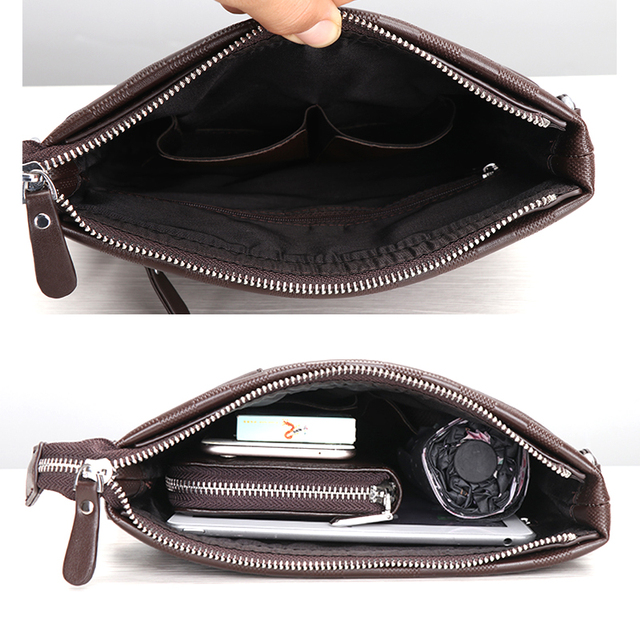 Men Messenger Bag Male Leather Casual Crossbody Bag Business Men's Handbag Bags for gift Shoulder Bags Men 5