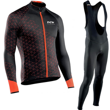 94130f60d 2018 NW Northwave Cycling Set Maillot Ropa Ciclismo GEL Bib Pants Long  Sleeve Autumn Winter