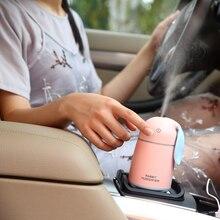 DC 5V USB Ultrasonic Humidifier Air Purifier for Car Mini Fogger Atomizer with LED Lights 175ml Mist Maker цена и фото