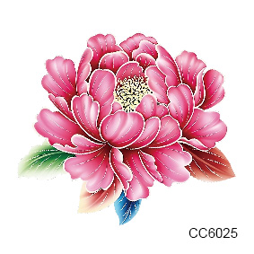 Wholesale 60*60mm Fashion 3D Red flower s