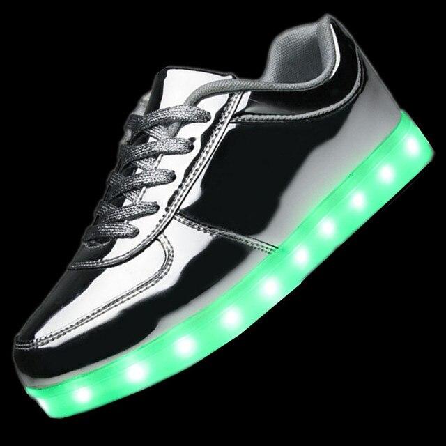 Мужская Светодиодные Светящиеся Обувь Мужчины 2017 Повседневная Обувь Led Обувь для Мужчин Мода СВЕТОДИОД Загорается Обуви Для Взрослых Chaussure Lumineuse
