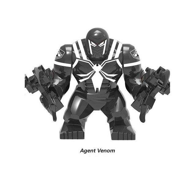 Agente de Super-heróis da Marvel Venom Verde Lanterna Kilowog Boneca Grande Modelo Figuras de Ação Para crianças Blocos de Construção de brinquedos presentes de Aniversário