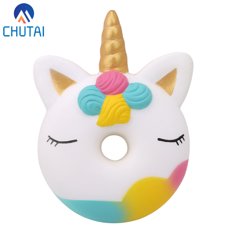 Jumbo Kawaii Unicorn Donut Squishy Cake Bread Squishies Cream Scented Slow Rising Squeeze Toy Kids Xmas Birthday Gift 13*9CM