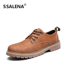 Men Vintage Lace Up Ankle Boots Male Comfortable Leisure Short Boots Men Round Toe Wearable Rubber Anti-slip Shoes AA60840