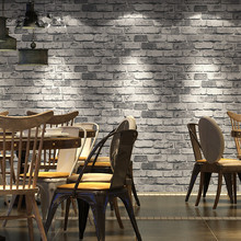 new Chinese style 3d grey red brick vintage wallpapers restaurant barber shop hotel antique wallpaper office