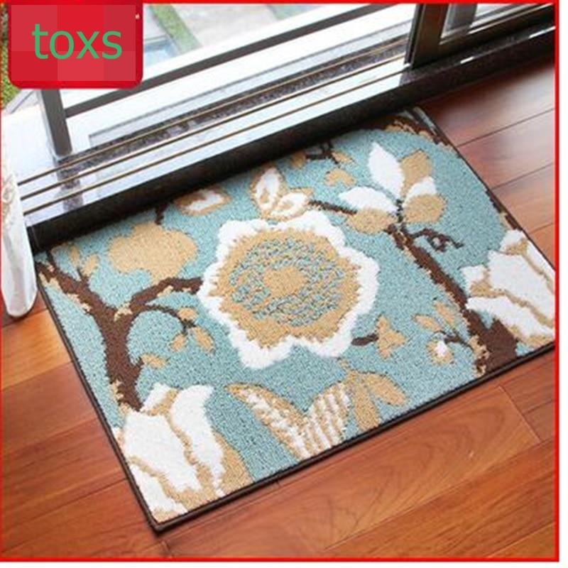 Fashion mats doormat household mat waste-absorbing slitless slip-resistant mats 80cm*110cm per piece