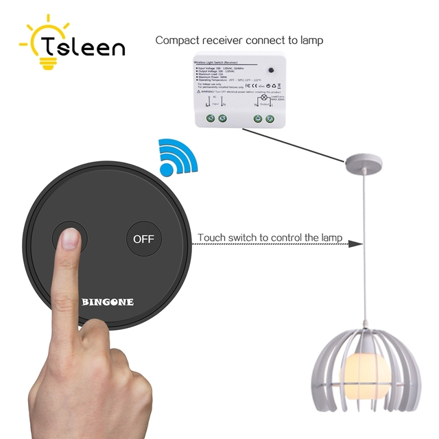 US/CA Wireless Light Switch Smart Home Switch for Ceiling Fan Remote ...