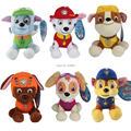 13-20cm Puppy Patrol Plush Dolls Skye Marshall Chase Zuma Rocky Rubble Space Dog Figure Cotton Dog Stuffed Soft Toys