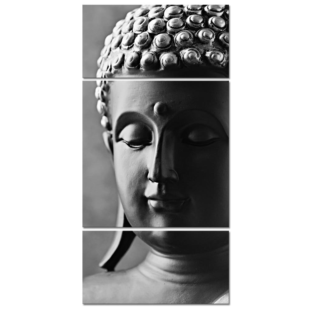 Peafaul Wall Art Print Poster Wall Art: Visual Art Decor Black And White Buddha Canvas Wall Art
