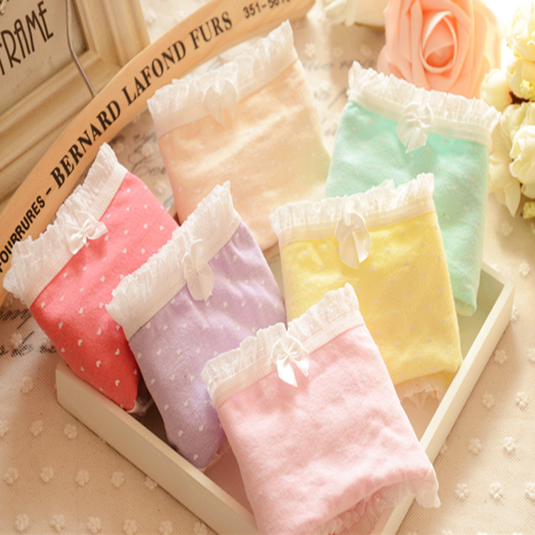 Panties women 2017 wholesale cotton underwear women panties 510 bragas thongs cute girls briefs