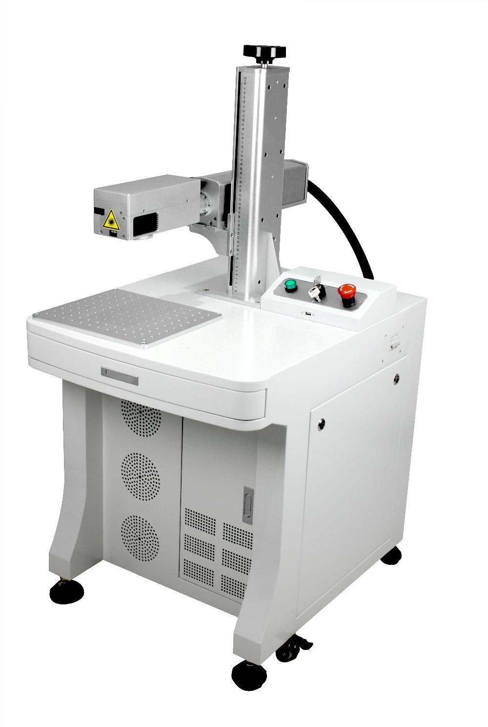 Маркировка УФ лазерного 3D печати пластик дерева, металла машины