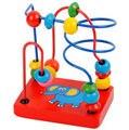 Детские деревянные игрушки Маленькие деревянные слон вокруг бортовых игрушки мини головоломки раннего детства обучающие игрушки Красочные Образовательные игры