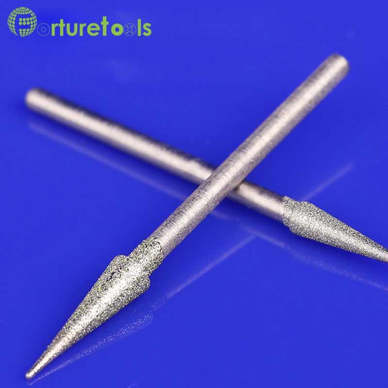 50 pz diamante montato punto testa rettificatrice dremel utensile - Utensili abrasivi - Fotografia 4