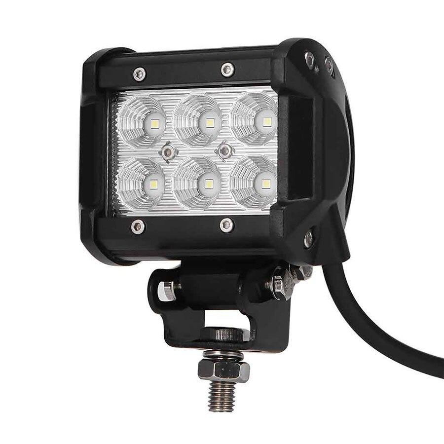 LED 18W Work Lamp 4 Inch Light Bar Offroad 12V IP67 FLOOD FOR 4x4 OFF ROAD ATV TRUCK BOAT UTV WORKLIGHT