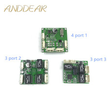 Mini PCB anahtar modülü PCB OEM modülü mini boyutu 3/4/5 Portlu Ağ Anahtarları PCB kartı mini ethernet anahtar modülü 10/100 Mbps