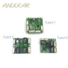 Мини коммутатор, OEM модуль, мини порт 3/4/5, сетевые коммутаторы, печатная плата, мини модуль коммутатора ethernet 100 Мбит/с