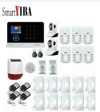 SmartYIBA 3G WCDMA Wireless Alarm System WIFI Burglar Arm Disarm IP Camera Wireless Solar Siren Kit Phone App Remote