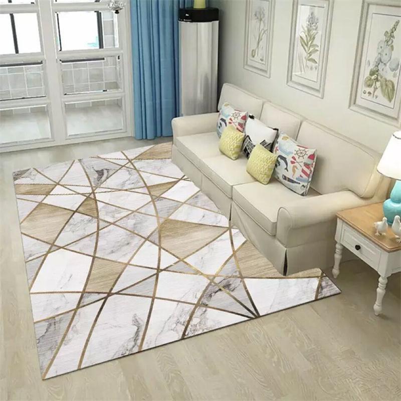 Tapis antidérapant de plancher de tapis de luxe de diamant de FYMX pour le salon de chambre 3D a imprimé des tapis nordiques rectangulaires de zone de jeu d'enfants