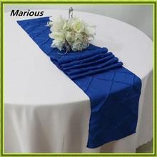 20pcs 11x108inch decoration banquet hotel wedding pintuck table runners redblue taffeta table runner wholesale cheap