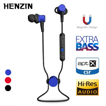 IPX7 Waterproof Bluetooth Earphone Wireless Magnetic Earbuds In-Ear Sports Headsets Hifi Stereo APT-X With Mic For Smartphone