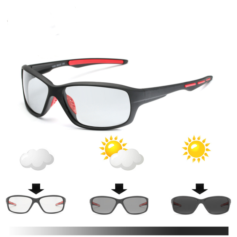 Sport Color-changing Lenses Photochromic Polarized Glasses Bicycle MTB Riding Fishing Cycling Sunglasses Outdoor Equipment