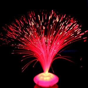 Image 3 - 1 pçs bela cor romântica mudando led de fibra óptica nightlight lâmpada pequena noite luz chrismas festa decoração para casa